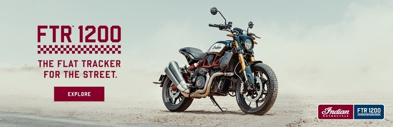 The all-new Indian Motorcycle FTR 1200 - Banner Image